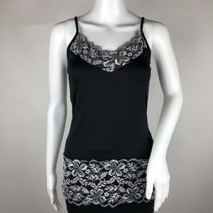 White House Black Market Floral Lace Cami Small